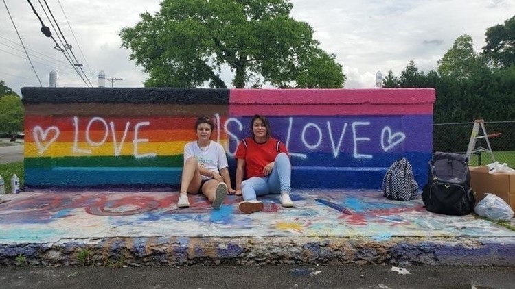 Pride flags painted over twice in Tennessee town after video of woman insulting teens spreads online