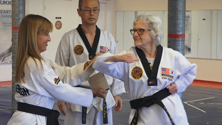 85-year-old close to achieving her third-degree black belt