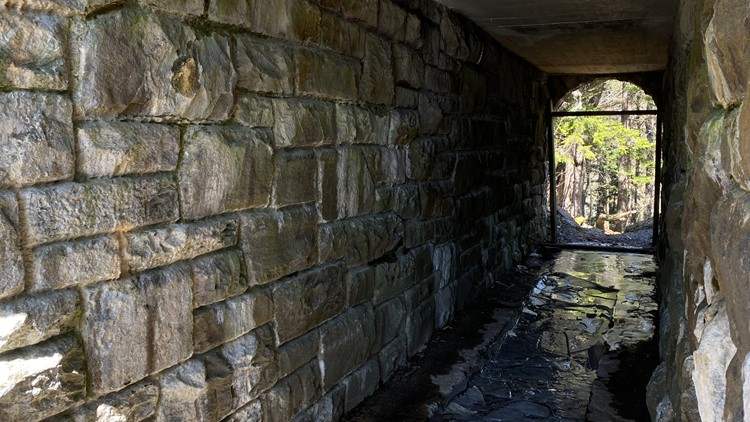 Few know about the secret tunnel beneath Clingmans Dome Road in the Great Smoky Mountains