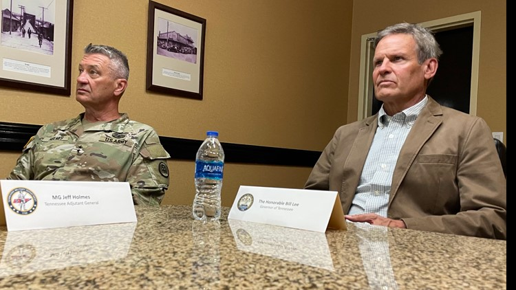 Gov. Bill Lee visits Tennessee National Guard troops deployed to U.S. southern border