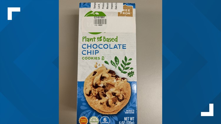 Recall issued for plant-based chocolate chip cookies after dairy found in them