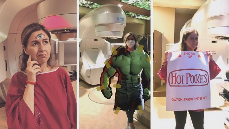 Knoxville breast cancer patient snaps silly pictures during treatments