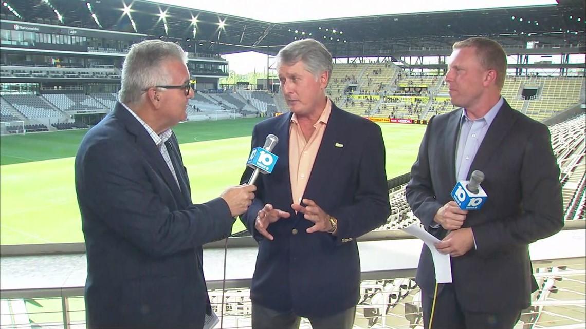 Dr. Pete Edwards reacts to new Columbus Crew stadium