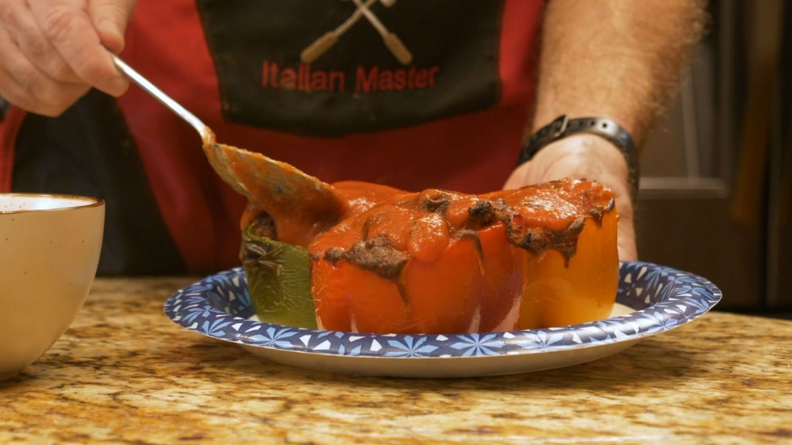 Cooking with Dom: Italian Sausage Stuffed Peppers