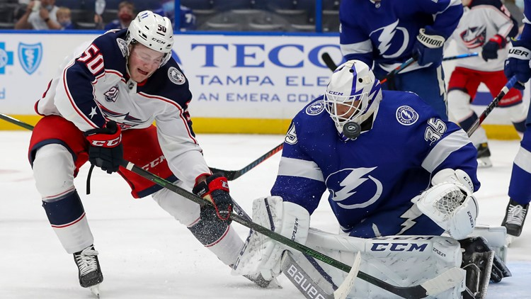 Blue Jackets fall to Lightning 3-1; winless in last 8 games