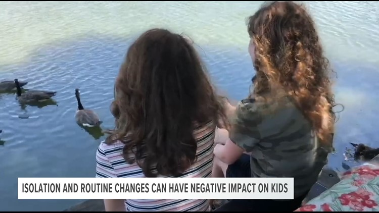 Isolation and routine changes can have a negative impact on kids