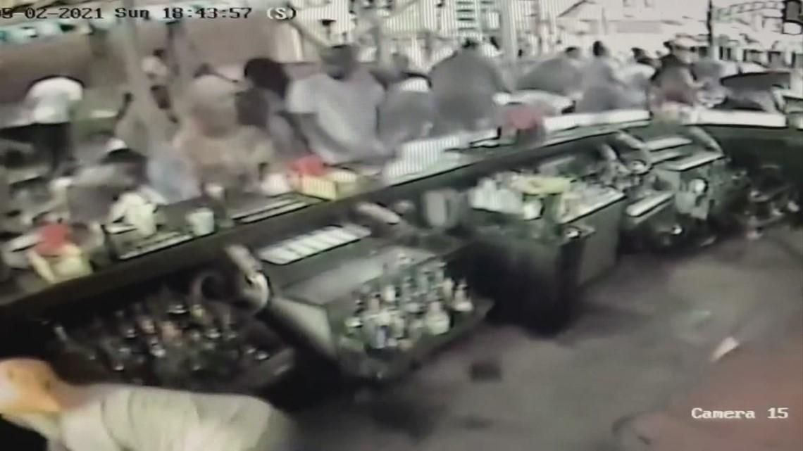 Surveillance video of Park Street Cantina shooting