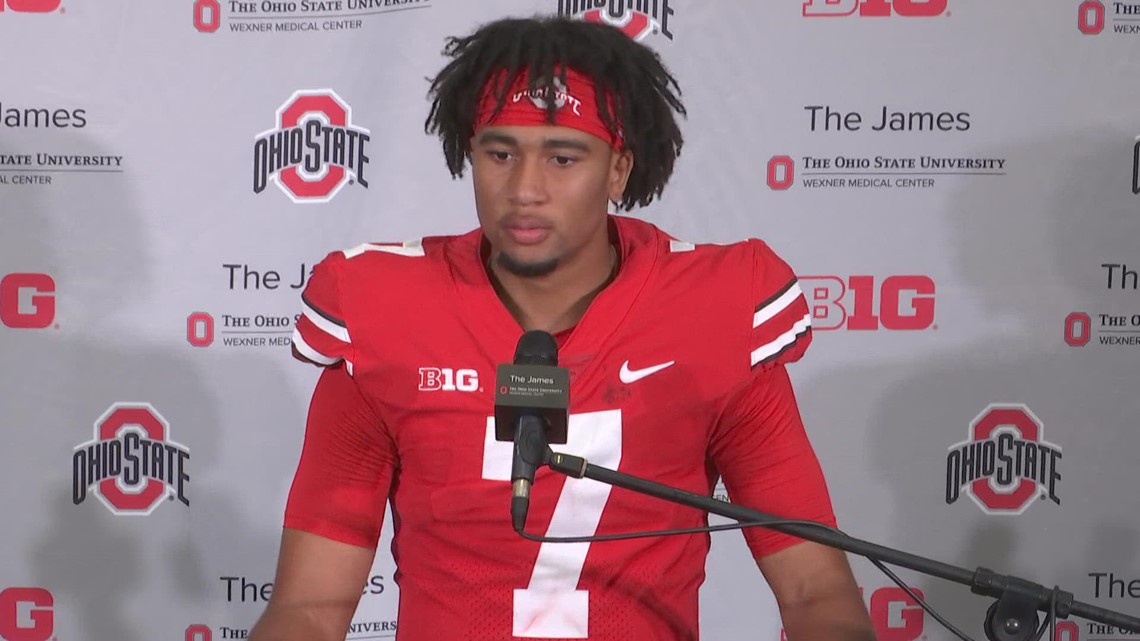 C.J. Stroud post-game interview   Ohio State-Maryland