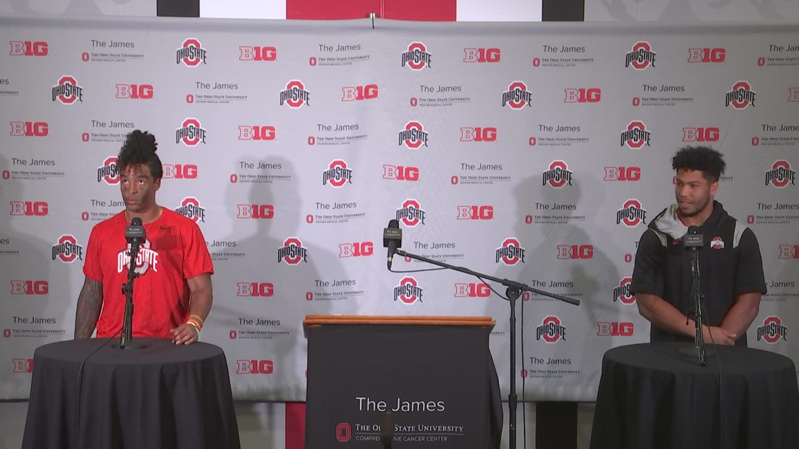 Cody Simon, Steele Chambers post-game interview   Ohio State-Maryland