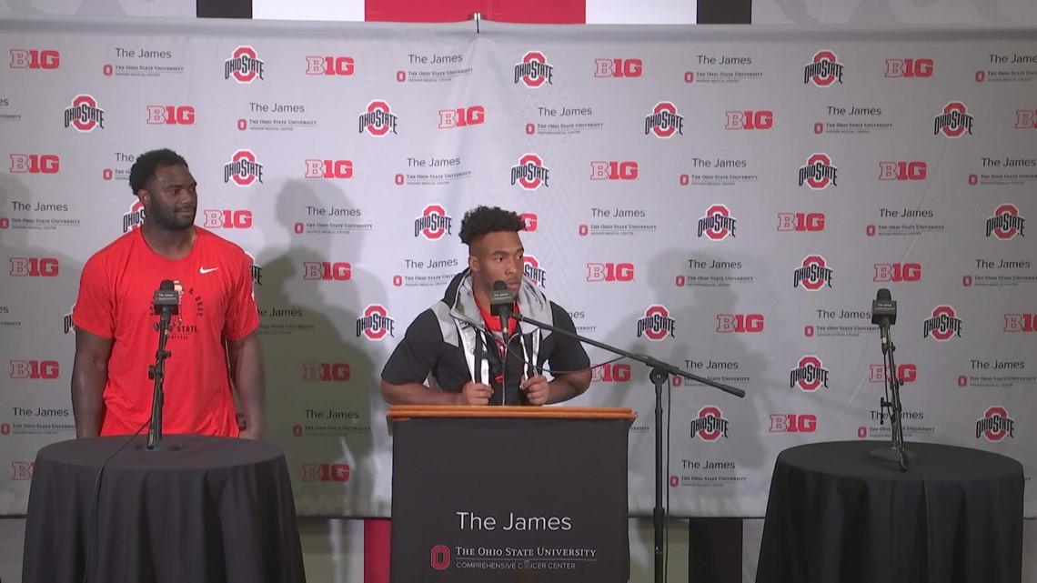 TreVeyon Henderson, Nicholas Petit-Frere post-game interview | Ohio State-Tulsa