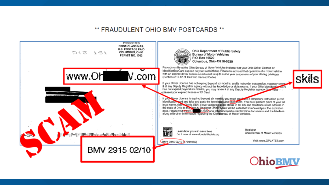 Ohio BMV warns consumers of scam asking to renew driver's license, identification card