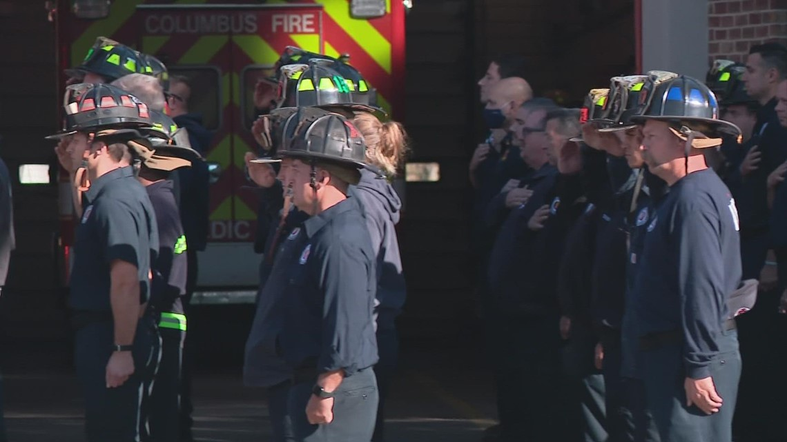 Columbus firefighter honored by friends and colleagues