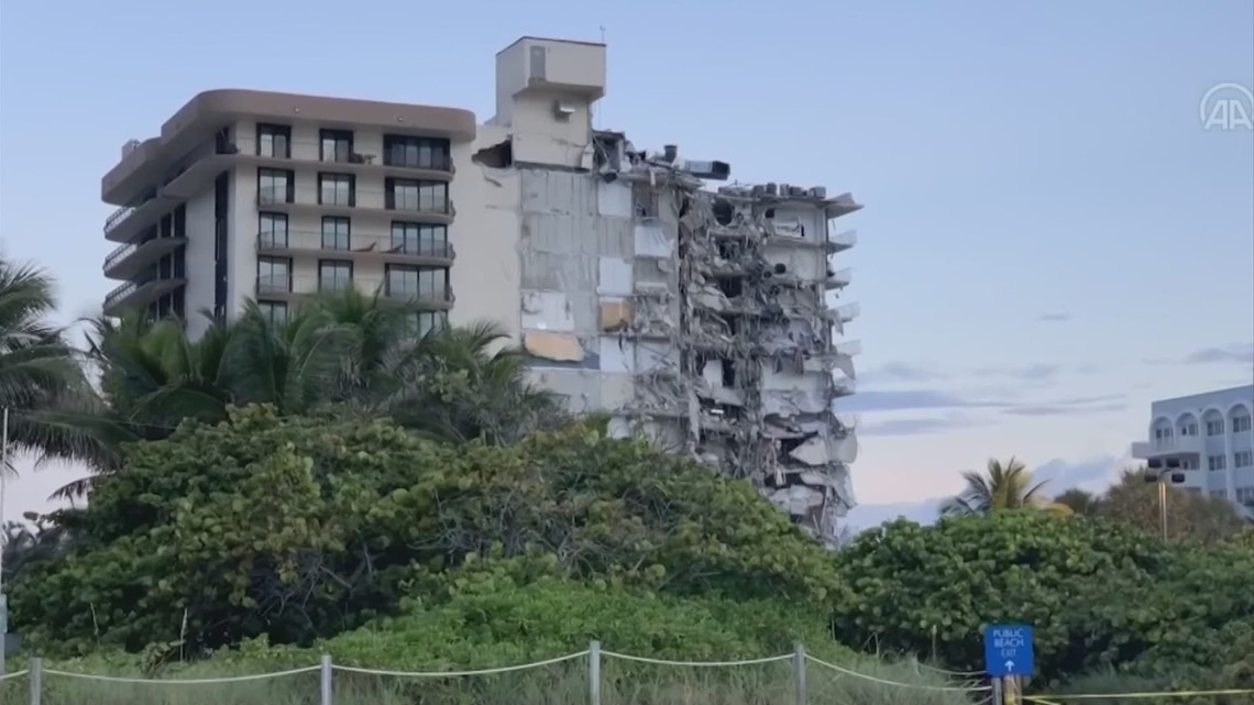 Study: Florida condo that partially collapsed had been sinking in 1990s