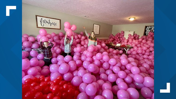 450 balloon bouquets going to seniors this Valentine's Day