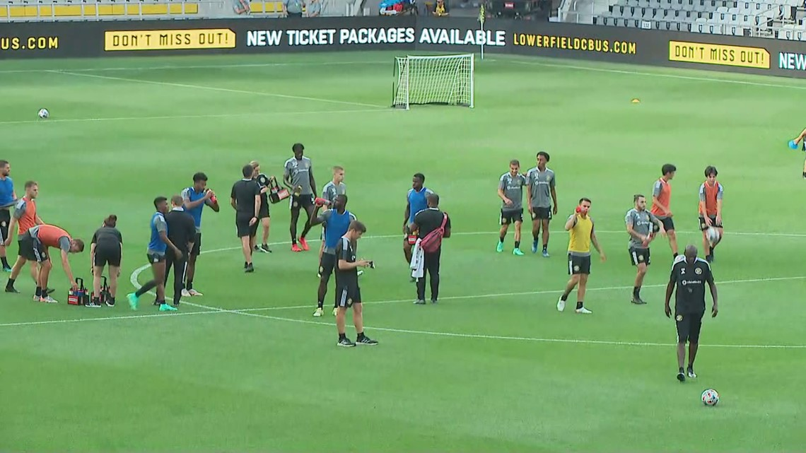 Columbus Crew takes practice at Lower.com Field for the first time