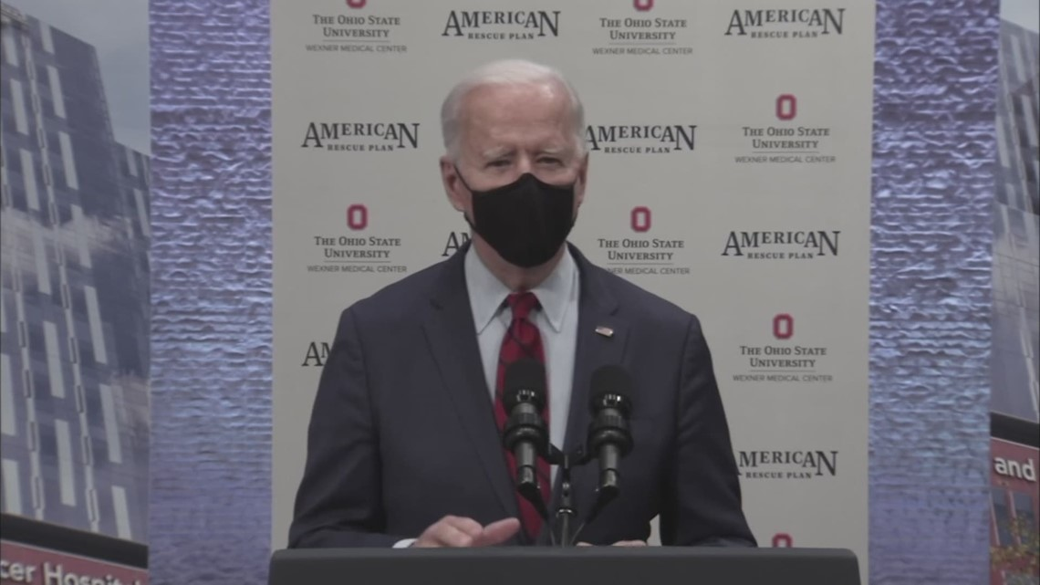 President Joe Biden visits the James Cancer Hospital on anniversary of Affordable Care Act