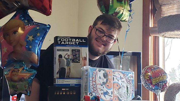 Strangers send gifts to celebrate 18-year-old with autism's birthday