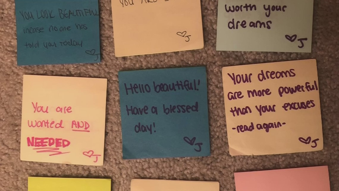 Gahanna woman leaving notes of encouragement across central Ohio