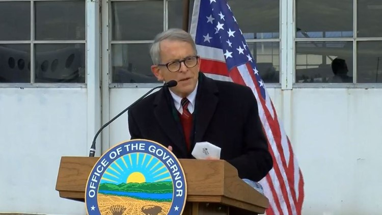 Governor Dewine Tours Ohio To Discuss Recent Covid 19 Case Spike Hospitalizations 10tv Com