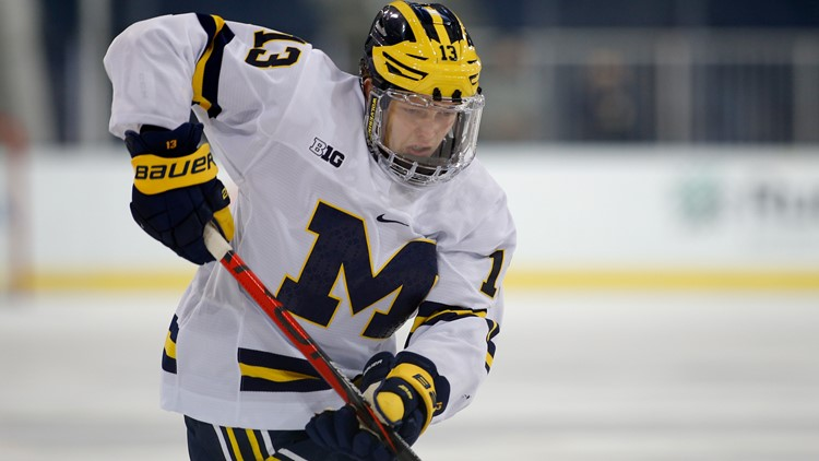 Columbus Blue Jackets select Michigan's Kent Johnson with 5th overall pick