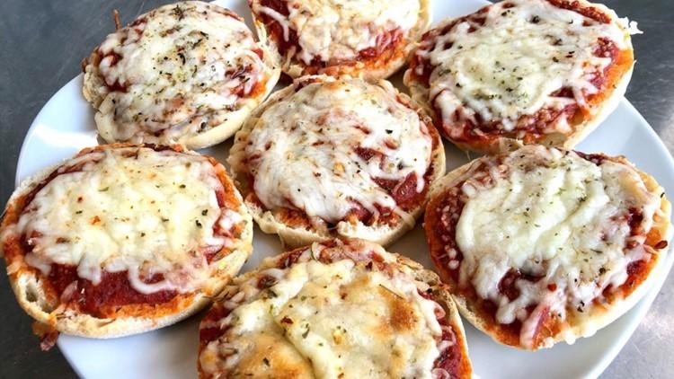 Brittany's Bites: Mini cheese pizzas