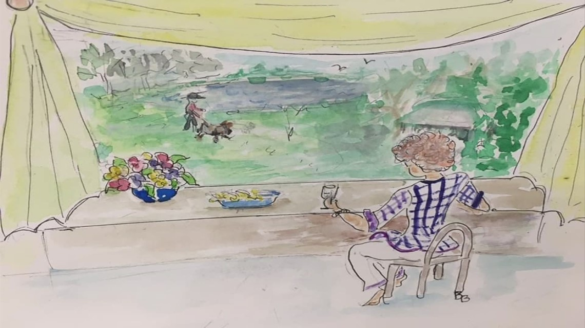 91-year-old woman defeats COVID-19 while inspiring others through painting