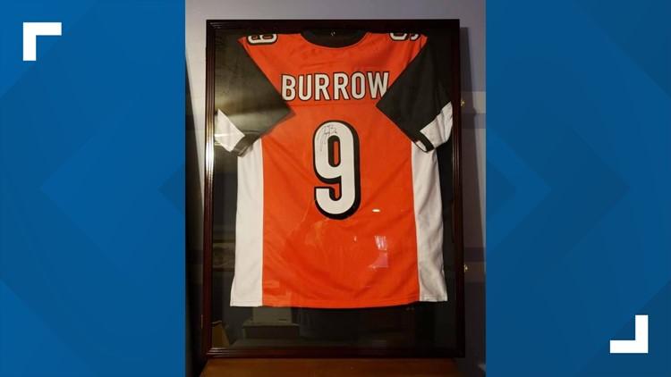 Joe Burrow jersey focus of raffle to fight domestic violence