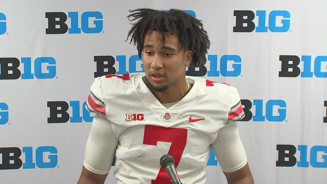 C.J. Stroud post-game interview   Ohio State-Rutgers