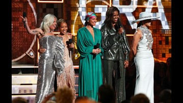 Lady Gaga Wins 3 Grammys Michelle Obama Makes Appearance 10tv Com