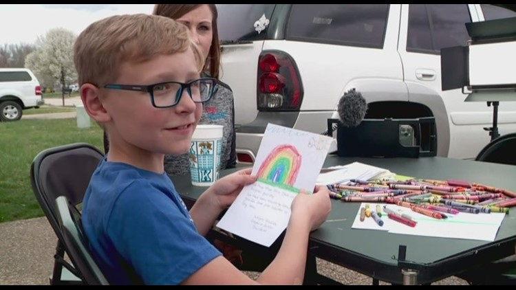 'Every single one of them smiled': Indiana boy makes cards for seniors not allowed visitors during pandemic