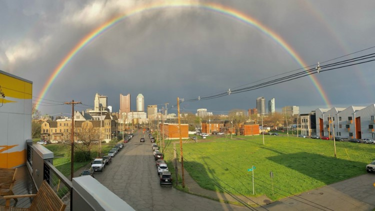Showers, storms bring rainbows across central Ohio on Friday