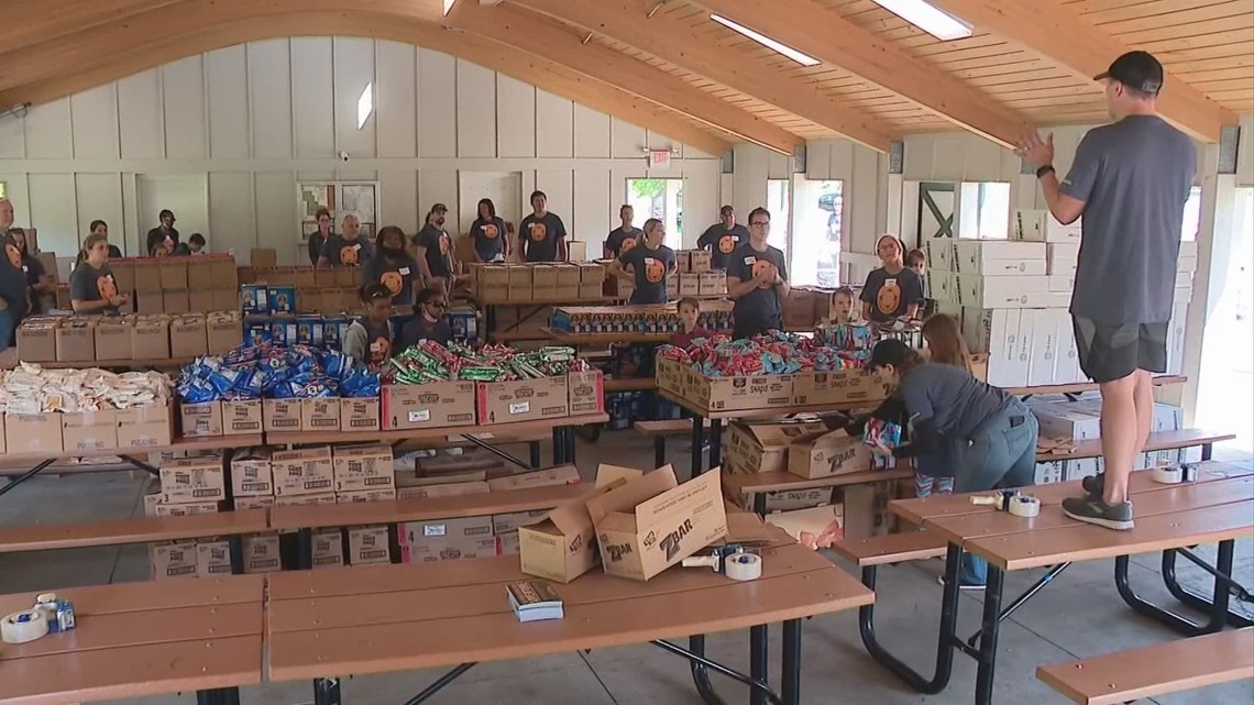 Fighting food insecurity with boxes full of snacks