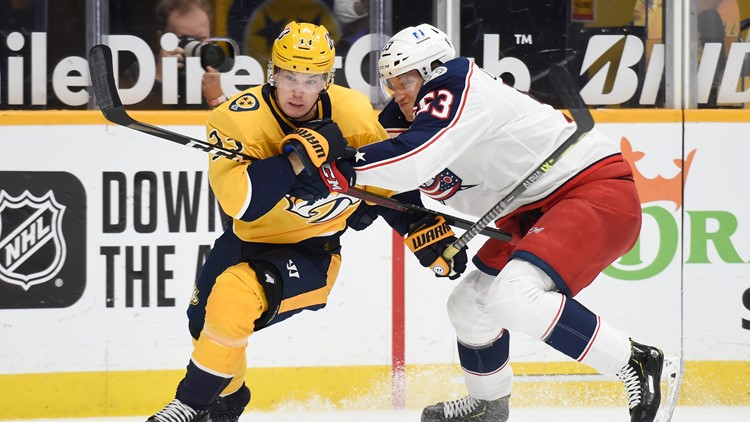 Ekholm scores twice, Predators defeat Blue Jackets 2-1