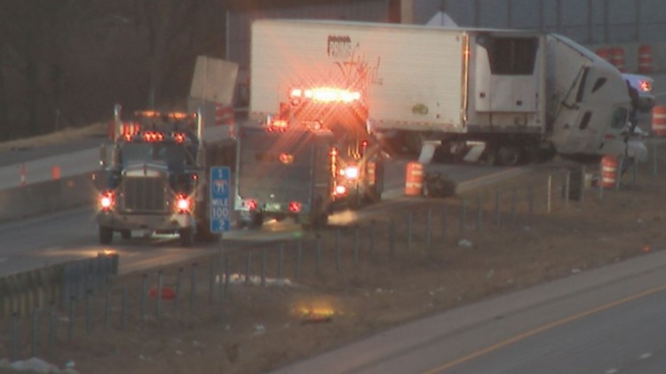 All lanes of I-71 North near Grove City reopened after closure due to semi crash