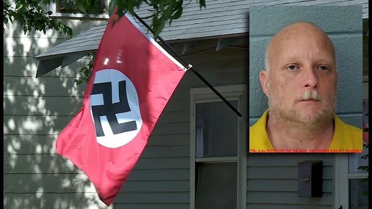 oklahoma woman shot while trying to steal nazi flag from man's yard |  10tv.com  10tv