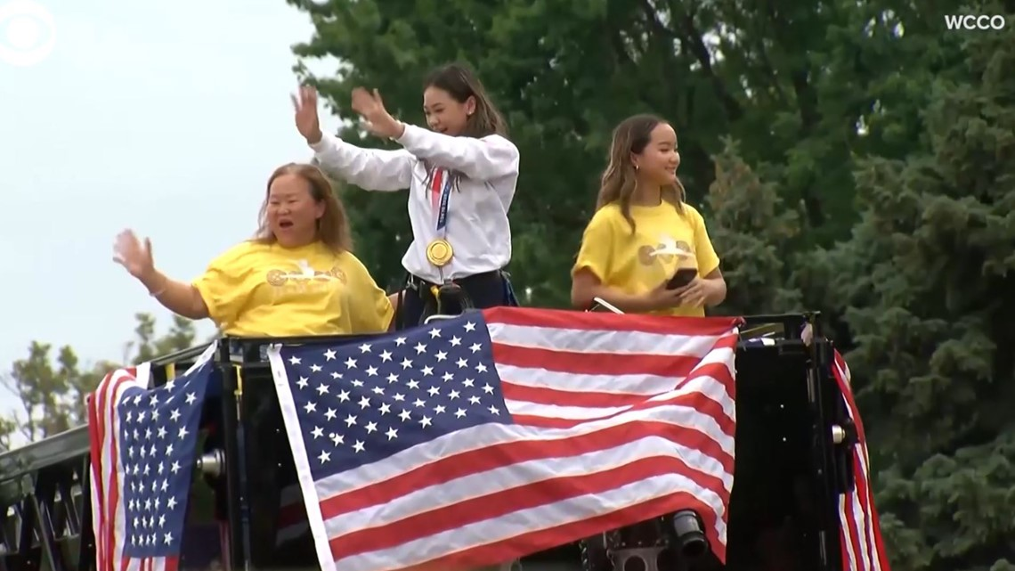 Olympic gold medalist Suni Lee gets homecoming parade