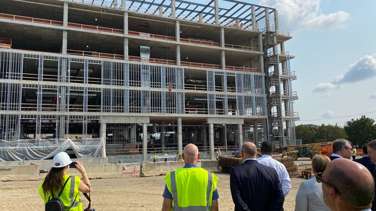 DeWine, leaders celebrate progress on new Ohio State research facility