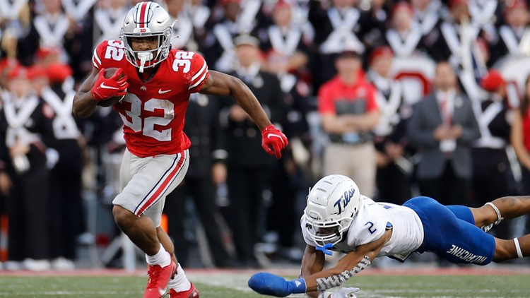 TreVeyon Henderson named Big Ten co-offensive player of the week for record-breaking performance in Ohio State-Tulsa game