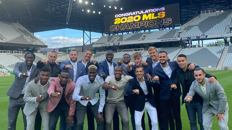 Columbus Crew hold 2020 MLS Cup Championship ring ceremony