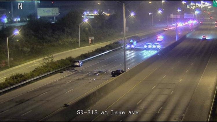 1 dead following 2-vehicle crash on State Route 315 near West Lane Avenue