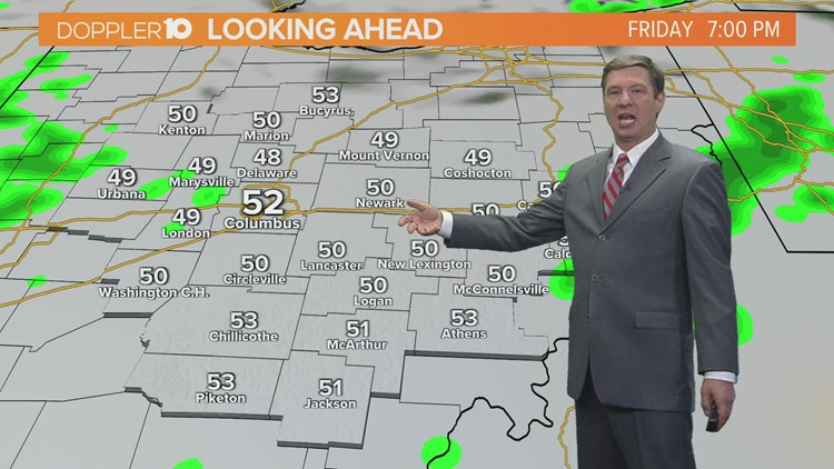Friday afternoon forecast   October 22, 2021