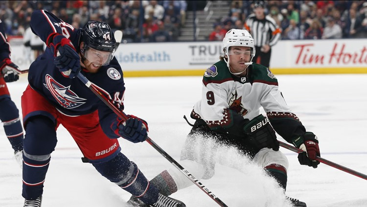 Bjorkstrand, Domi lead Blue Jackets in 8-2 rout of Coyotes