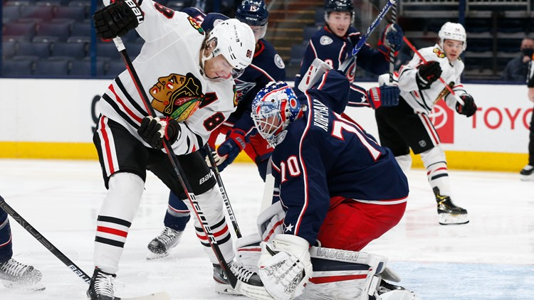 Kane's 399th goal pushes Blackhawks past Blue Jackets 2-0
