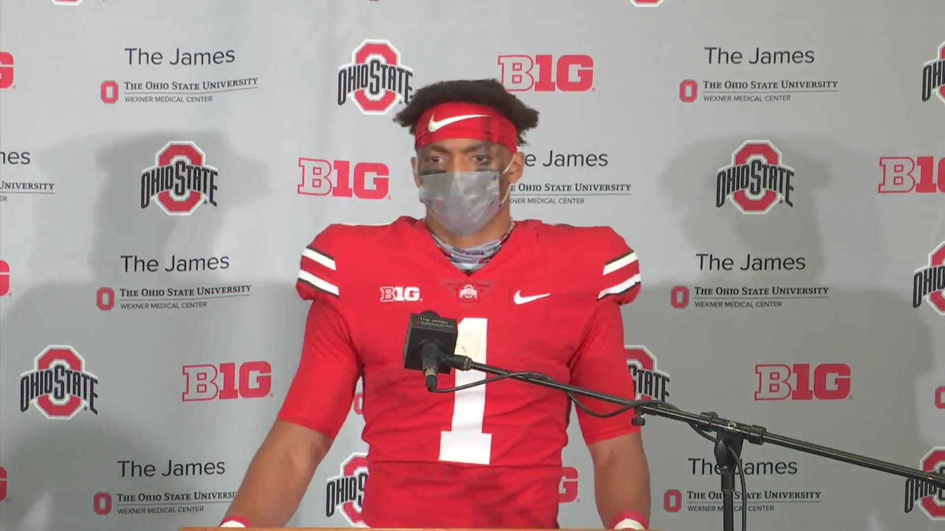 Justin Fields post-game interview | Ohio State-Nebraska ...