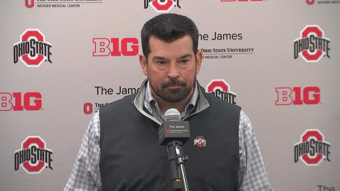 Ohio State head coach Ryan Day discusses Rutgers game