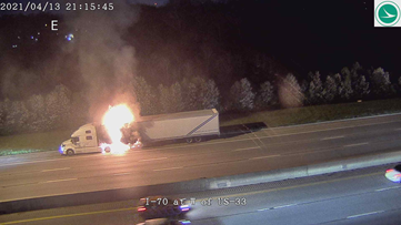 I-70 back open between East Livingston Avenue and US-33 after semi fire