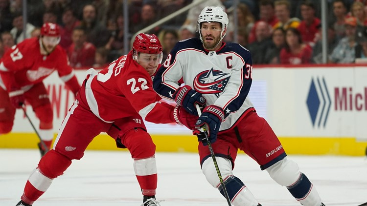 Blue Jackets lose first game of season to Red Wings 4-1