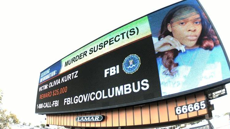 Columbus billboards detail reward information in hopes to make arrest in deadly Bicentennial Park shooting