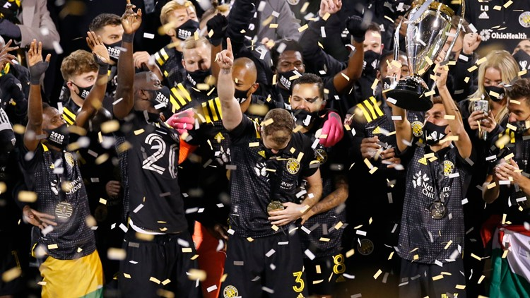 Columbus Crew SC celebrates MLS Cup win over Seattle Sounders FC