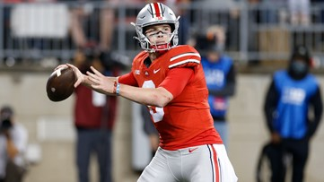 No. 10 Buckeyes break loose with 59-7 rout of Akron